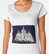 Sacre Coeur Cathedral Paris Night People Women's Premium T-Shirt