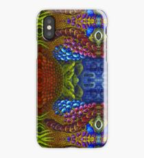 Psychedelic pattern. Bright neon forms. Ultraviolet illustration. glowing pattern. Indian, Korean, Arabic, crochet ornament. underwater world with deep-sea inhabitants. Bioluminescence. Fireflies iPhone Case/Skin