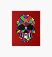 Colorful Sugar Skull Design Art Board