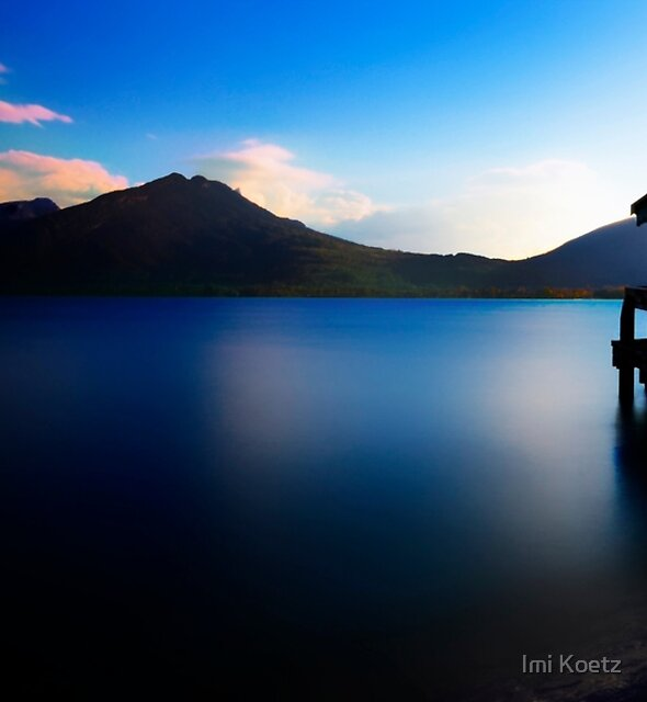 Lake Annecy at Sunset by Imi Koetz