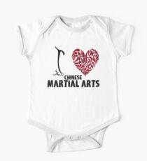 Chinese martial arts T shirt Design I love Chinese martial arts One Piece - Short Sleeve