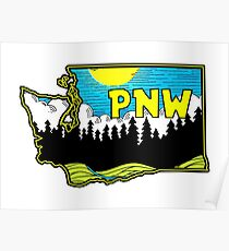 Pacific Northwest PNW Washington Nature Forest National Park North West Poster