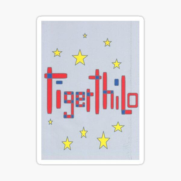 2506 - Tigerthilo Design Red Blue Star Style Sticker