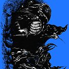 Inktober Shadows Blue by Karolina Wegrzyn