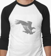 Lined Eagle Men's Baseball ¾ T-Shirt