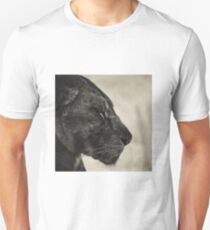 Black and white Lioness with closed eyes T-Shirt