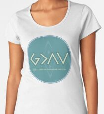 Christian Quote - God Is Higher Than Highs And Lows - Green And Lavender  Women's Premium T-Shirt