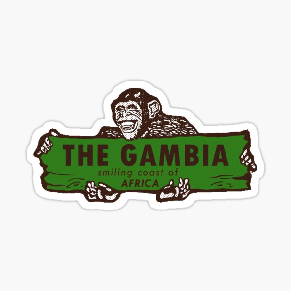 The Gambia West Africa Vintage Travel Decal Sticker
