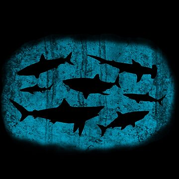 Oh no, sharks. by fructosebat