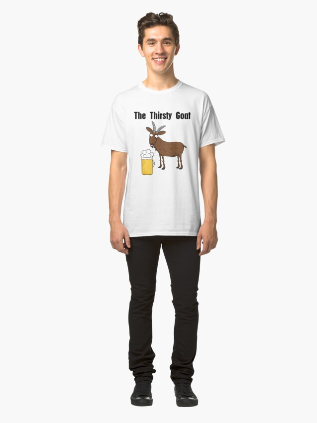 Alternate view of Neil, The Thirsty Goat Classic T-Shirt
