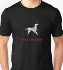 Origami-Einhorn Slim Fit T-Shirt