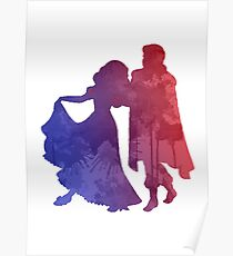Couple Inspired Silhouette Poster