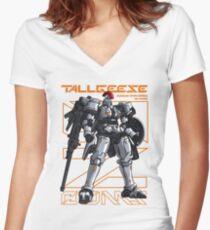 Tallgeese Gundam Women's Fitted V-Neck T-Shirt