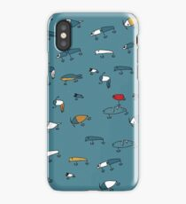 Blue lures iPhone Case/Skin