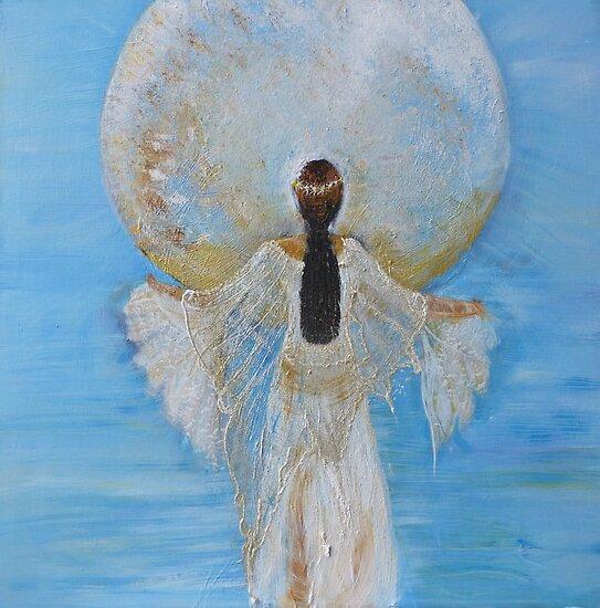 Mondfrau Himmelblau von Heike Hild