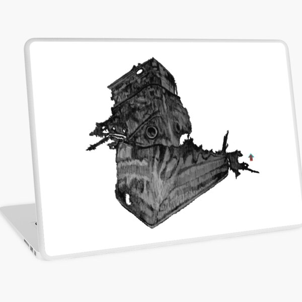 Wrecked II - Black and White Laptop Skin