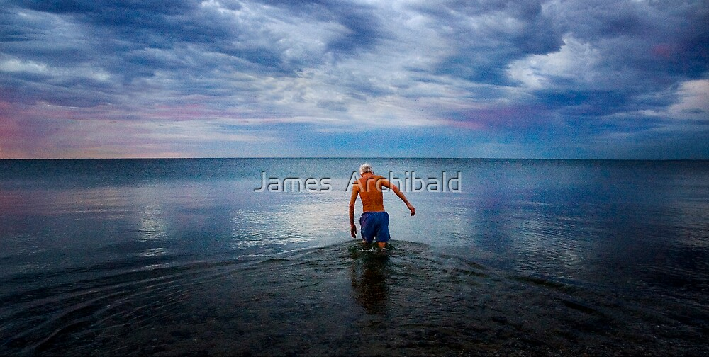 Early Morning Swimmer  by James  Archibald