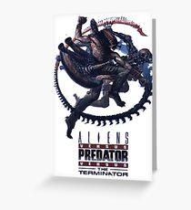 Alien VS Predator VS Terminator Greeting Card