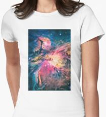 The awesome beauty of the Orion Nebula  Women's Fitted T-Shirt
