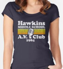 Hawkins Middle School A.V. Club Women's Fitted Scoop T-Shirt