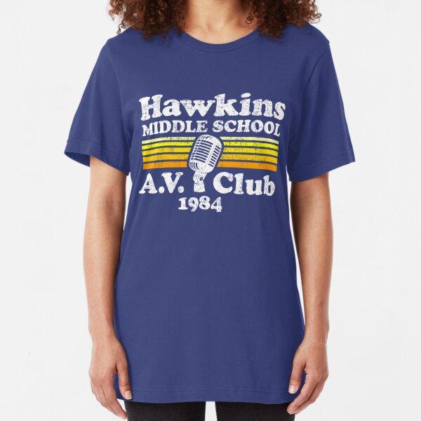 Hawkins Middle School A.V. Club Slim Fit T-Shirt