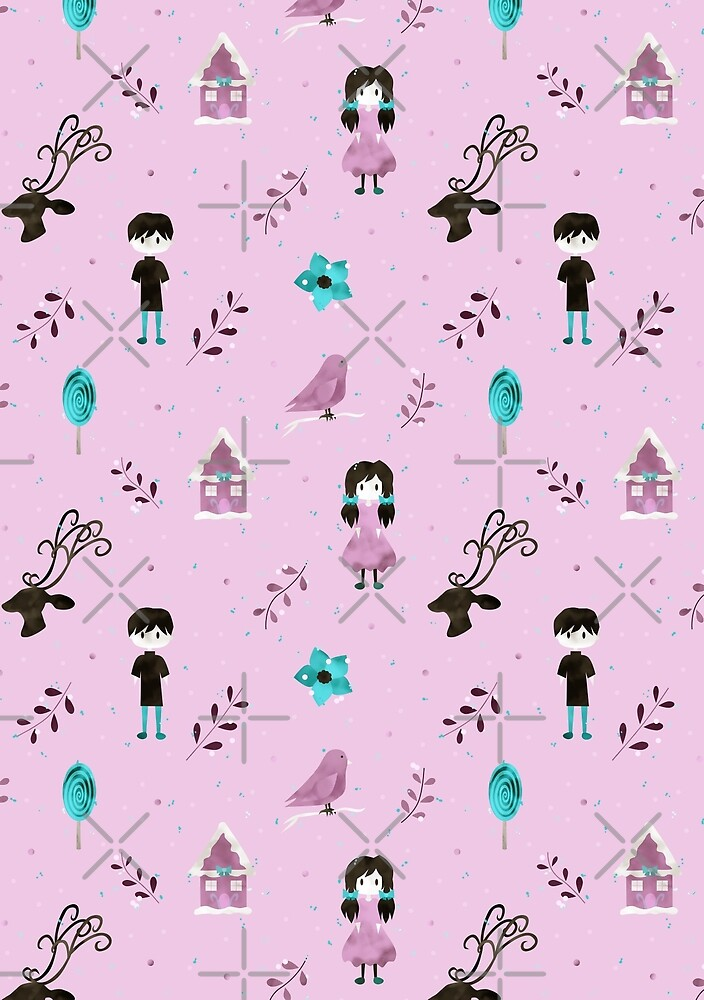Through the Forest (Pink version) by Alexa Weidinger