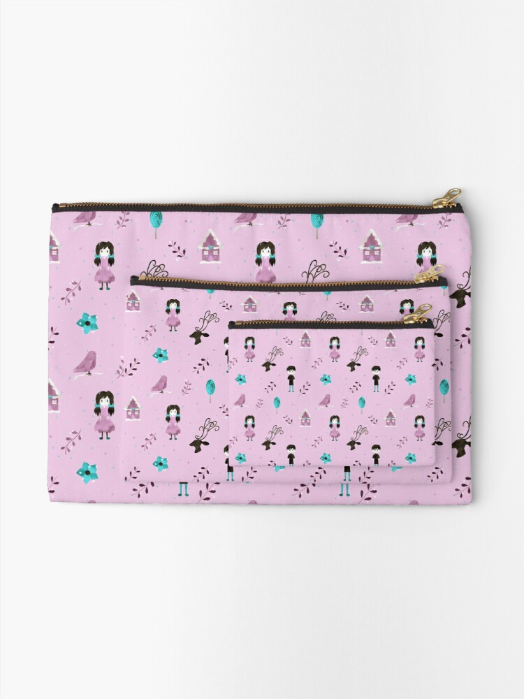Alternate view of Through the Forest (Pink version) Zipper Pouch