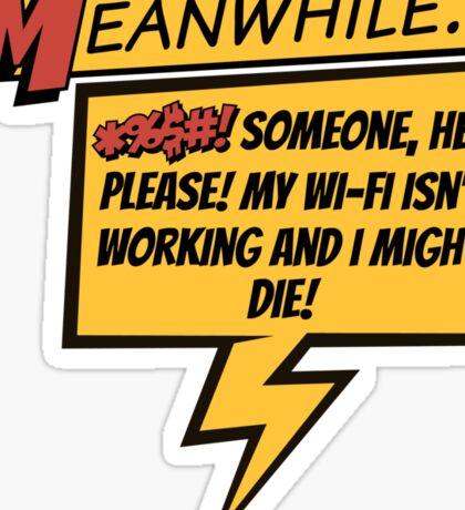Comic Book Wifi Sticker