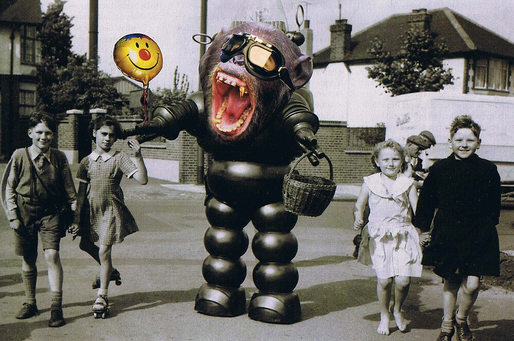 """""""Robo-chimp""""......... by atomikboy"""