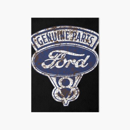Oil Stained Ford Sign Art Board Print