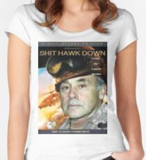 SHIT HAWK DOWN Women's Fitted Scoop T-Shirt