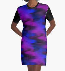 Keep It Wavy (purple, blue, black) Graphic T-Shirt Dress
