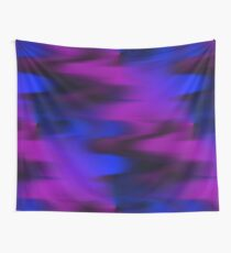 Keep It Wavy (purple, blue, black) Wall Tapestry