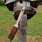 Birdhouse with Brush by Barbara Wyeth