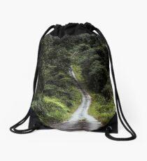 Road through The Tropical Jungle Drawstring Bag