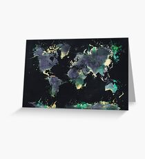 world map 126 #worldmap #map Greeting Card
