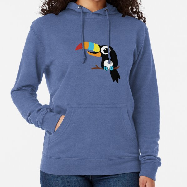 Toucan Cartoon - Bright Fun Colours Lightweight Hoodie