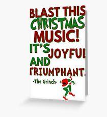 The Grinch - Triumphant Greeting Card