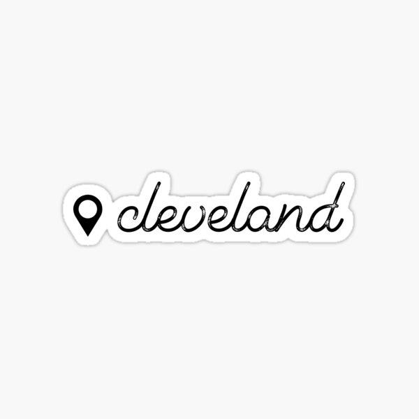 Cleveland, Ohio – Location Pin Sticker