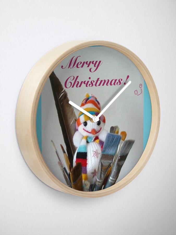 Alternate view of Merry Christmas dear artist Clock