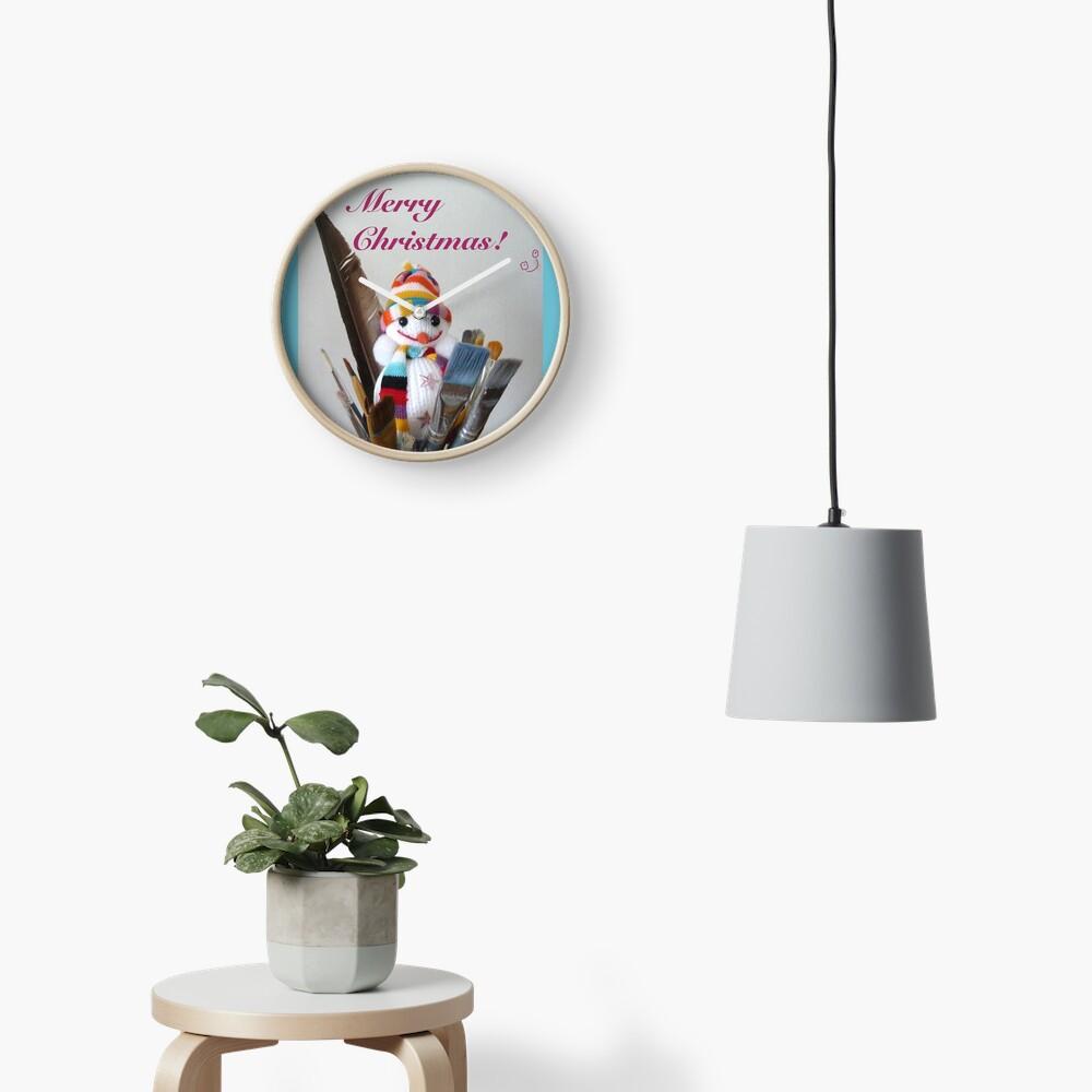 Merry Christmas dear artist Clock