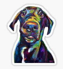 Handsome Hank The Great Dane Sticker