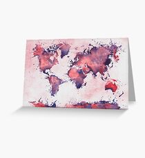 world map 127 #worldmap #map Greeting Card