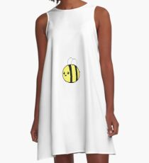 Smiling Bumble Bee A-Line Dress