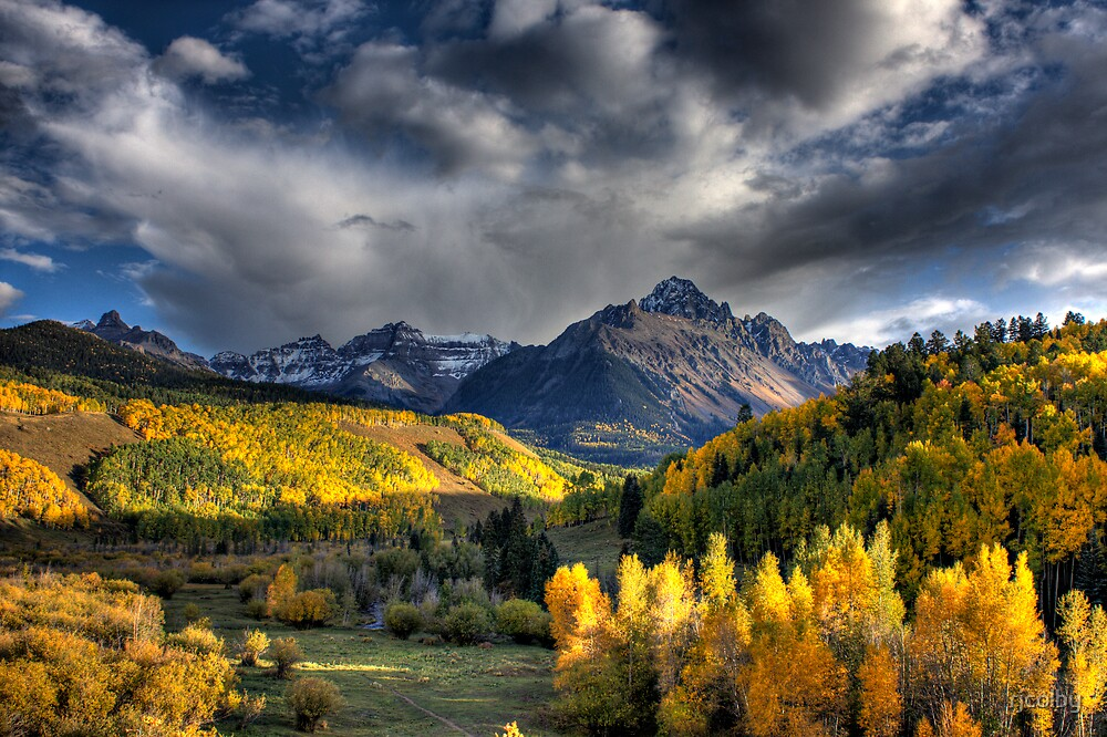 Mt Sneffels in Fall Color by rjcolby