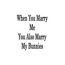 When You Marry Me You Also Marry My Bunnies  by supernova23