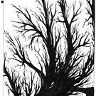 Forlorn, Ink Drawing by Danielle Scott