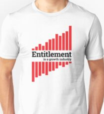Entitlement - red and black Unisex T-Shirt