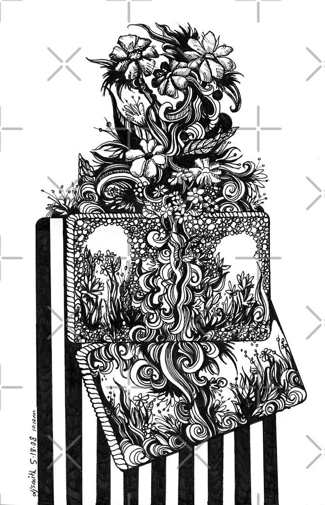 The Garden, Ink Drawing by Danielle Scott
