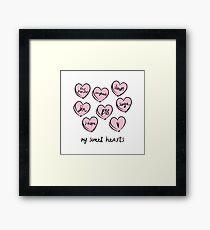 BTS hearts Framed Print